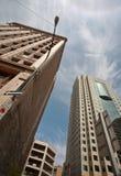 Alte und neue Gebäude in im Stadtzentrum gelegenem Winnipeg Lizenzfreie Stockfotos