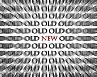Alte und neue Gegenteil-Wörter im Rot und im Schwarzen Lizenzfreie Stockfotos
