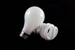Alte und neue Glühlampen Lizenzfreies Stockfoto