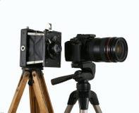 Alte und neue Kamera Stockfotos