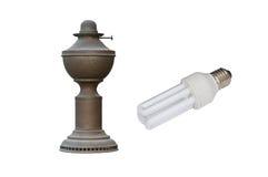 Alte und neue Lampe Lizenzfreie Stockfotografie