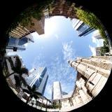 Alte und neue Wolkenkratzer der Architektur Stockfoto