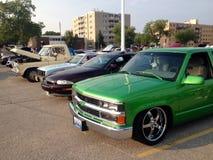 Alte und Retro- Autoausstellung Stockfoto