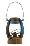 Alte und rostige blaue Weinleseöllampe Lizenzfreie Stockfotografie