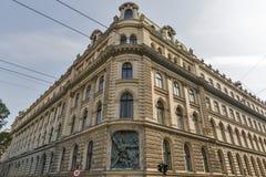 Alte und schöne Architektur in Budapest, Ungarn Lizenzfreie Stockbilder