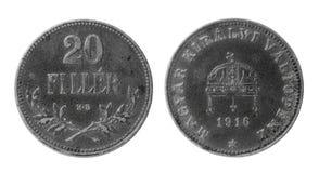 Alte ungarische Münze Stockfotos
