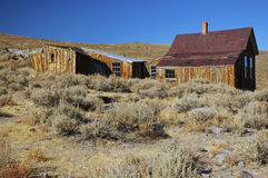 Alte USA-westliche Goldgeist-Bergbaustadt Stockfotografie