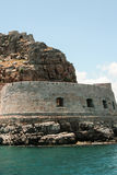Alte venetianische Festung auf Spinalonga-Insel, Kreta, Griechenland stockfoto