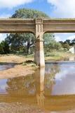 Alte veraltete Bahnbrücke, Pallamana, Süd-Australien Lizenzfreie Stockbilder