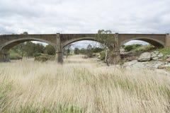 Alte veraltete Eisenbahnbrücke, Palmer, Süd-Australien stockfotos
