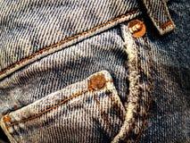 Alte verblaßte Blue Jeans Lizenzfreie Stockfotos