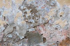 Alte vergipste Wandzusammenfassung Stockbild
