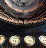 Alte Verkaufsstelle bebauen die Prüfung, die Buchstaben zeigt Lizenzfreie Stockbilder