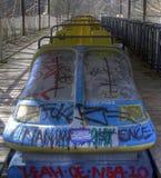 Alte verlassene Achterbahn Stockfotografie
