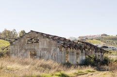 Alte verlassene Bahnstation Lizenzfreies Stockfoto