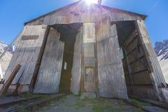 Alte verlassene Bahnstation, Grenze mit Argentinien und Chile Lizenzfreies Stockfoto