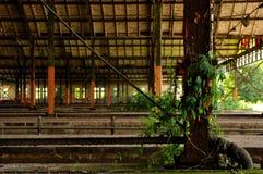 Alte verlassene Bahnstation in Ost-Deutschland Lizenzfreie Stockfotos