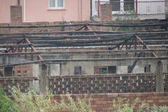 alte verlassene Fabrik Stockbild