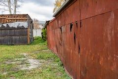 Alte verlassene Garage Lizenzfreie Stockbilder