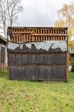 Alte verlassene Garage Stockfoto