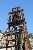 Alte verlassene Grube Stockbild