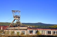 Alte verlassene Grube Stockfotos