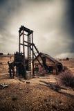 Alte verlassene Grube in Kolorado stockbild