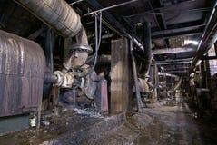 Alte verlassene industrielle rostige Fabrik Lizenzfreies Stockbild