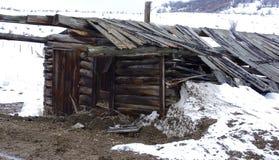 Alte verlassene Kabine Lizenzfreies Stockbild
