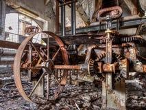 Alte verlassene Maschine Stockbild