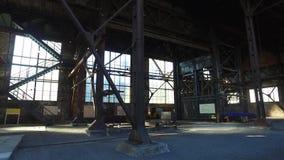 Alte verlassene metallurgische Anlage stock video footage