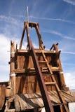 Alte verlassene Minenschacht-Westwüsten-Geisterstadt Stockfoto