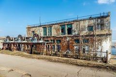 Alte verlassene Schleusentoren Lizenzfreie Stockbilder