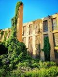 Alte verlassene Seidenfabrik im Landhaus San Giovanni lizenzfreies stockfoto