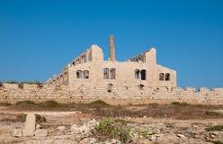 Alte verlassene Ziegelsteinfabrik in Sizilien Lizenzfreie Stockfotos