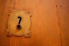 Alte Verriegelung und Frage. Lizenzfreie Stockbilder