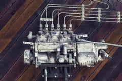 Alte verrostete verfallene Maschinerie Stockbild
