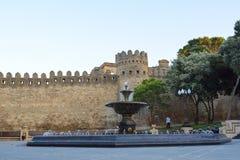 Alte Verstärkung in Baku-Stadt Stockfoto