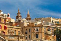 Alte Verstärkungen von Valletta, Malta Lizenzfreie Stockfotografie