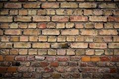 Alte verwitterte Backsteinmauer, Beschaffenheit, Hintergrund Lizenzfreie Stockbilder