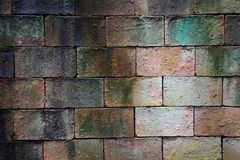 Alte verwitterte Backsteinmauerbeschaffenheit für Hintergrund Stockfotografie