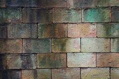 Alte verwitterte Backsteinmauerbeschaffenheit für Hintergrund Lizenzfreie Stockfotografie