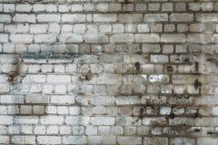 Alte verwitterte Backsteinmauerbeschaffenheit, Schmutzhintergrund Lizenzfreie Stockfotos