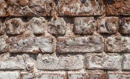Alte verwitterte Beschaffenheit der Backsteinmauer Vertretung Lizenzfreie Stockbilder