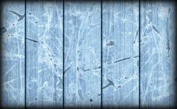 Alte verwitterte gebrochene flockige blaue hölzerne lamellierte Block-Brett Platte Vignetted-Schmutz-Beschaffenheit Lizenzfreie Stockfotos
