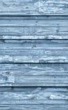 Alte verwitterte gebrochene flockige blaue hölzerne lamellierte Block-Brett Platten-Schmutz-Beschaffenheit Lizenzfreie Stockbilder