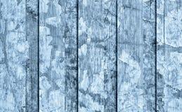 Alte verwitterte gebrochene flockige blaue hölzerne lamellierte Block-Brett Platten-Schmutz-Beschaffenheit Lizenzfreie Stockfotos