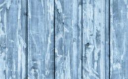 Alte verwitterte gebrochene flockige blaue hölzerne lamellierte Block-Brett Platten-Schmutz-Beschaffenheit Lizenzfreies Stockbild