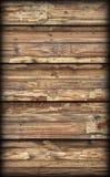 Alte verwitterte gebrochene flockige hölzerne lamellierte Block-Brett Platte Vignetted-Schmutz-Beschaffenheit Lizenzfreies Stockbild