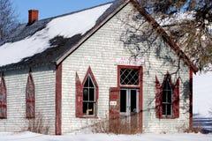 Alte, verwitterte Hausfassade Stockfotografie